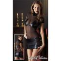 Minikjole med Wetlook Nederdel og BH