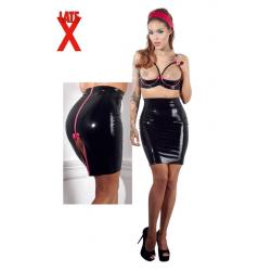 Latex Nederdel i Sort,latex er super frækt både som tøj men også som  sexlegetøj