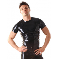 Latex T-Shirt Sort