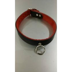 O's Halsbånd (sort & rød) SM sexlegetøj og halsbånd i god kvalitet
