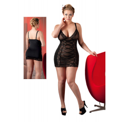 Plus Size Blonde Lingerikjole i Sort