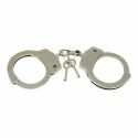 Metal Police Hand-Cuffs Håndjern der holder