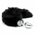Butt Plug - Small med sort hale