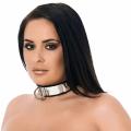 Læder Halsbånd med stål og hængelås