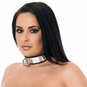 Læder Halsbånd med metal og hængelås