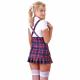 Frækt Skolepige Kostume
