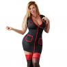 Plus Size Sygeplejerske Kostume i Sort