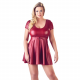 Flared Wetlook Dress