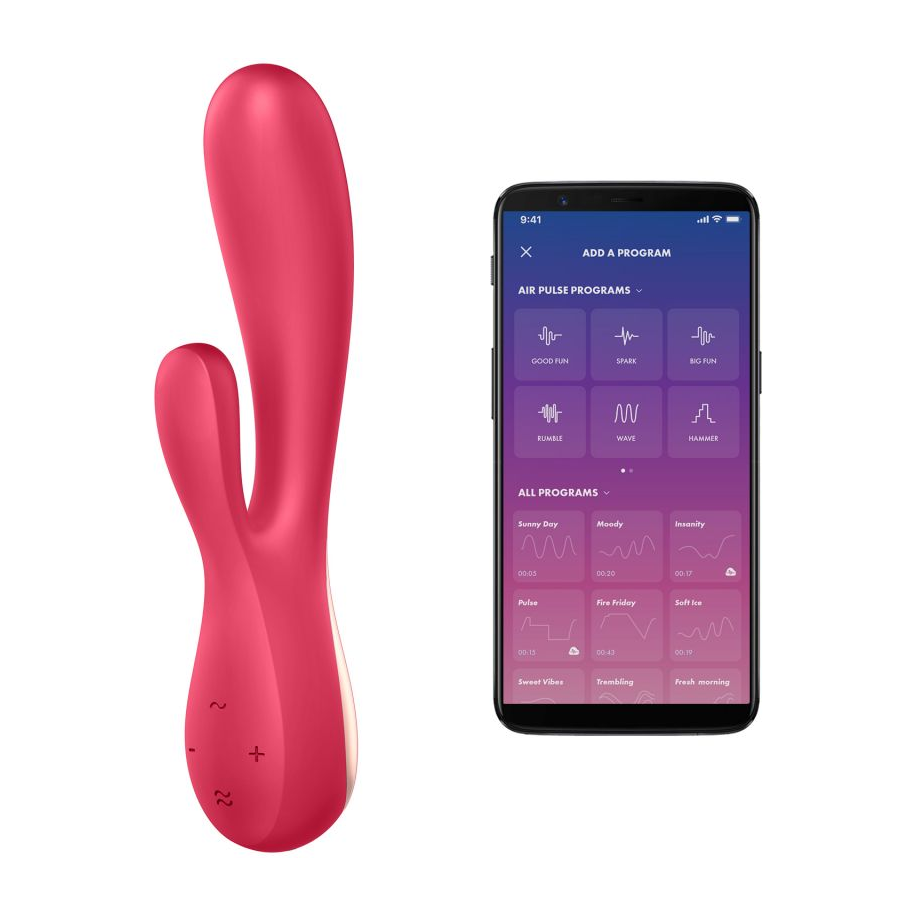 Satisfyer Mono Flex G-Spot Vibrator With App - Red