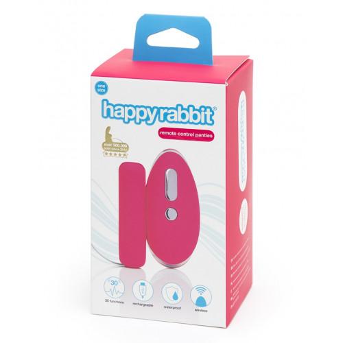 HAPPY RABBIT REMOTE CONTROL KNICKER VIBRATOR - ONE SIZE