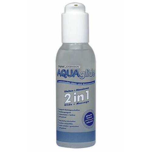 Aquaglide 2 i 1 - 125 ml vand baseret glide creme kan bruges sammen med ALT sexlegetøj og SM udstyr