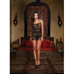 Dreamgirl Black Chemise Red Diamond Collection