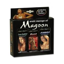 Maroon massage oliesæt(m. duft)