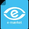 Det kendte e-mærket logo